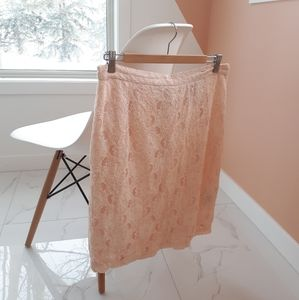 Dresses & Skirts - Light pink/coral lace skirt